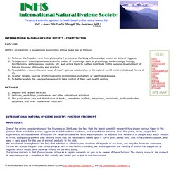 Constitution - INHS International Natural Hygiene Society