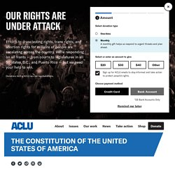 ACLU & US Constitution