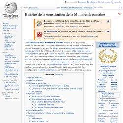 Histoire de la constitution de la Monarchie romaine