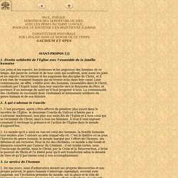 Constitution pastorale - Gaudium et Spes