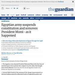 Egypt in crisis: army deploys in Cairo streets; Morsi unseen - live updates