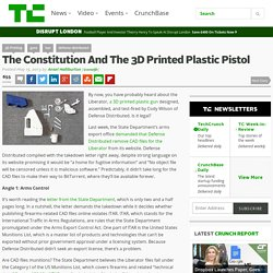 The Constitution And The 3D Printed Plastic Pistol