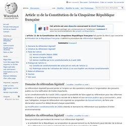 Article 11 de la Constitution de la Cinquième République française