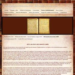 Déclaration des droits 1689