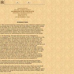 Constitution on the Sacred Liturgy Sacrosanctum Concilium