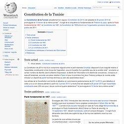 Constitution de la Tunisie