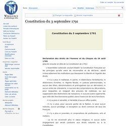 Constitution du 3 septembre 1791