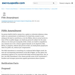 Fifth Amendment - Constitutional Amendments: From Freedom of Speech to Flag Burning