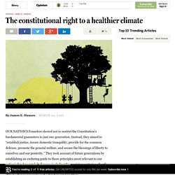 The constitutional right to a healthier climate