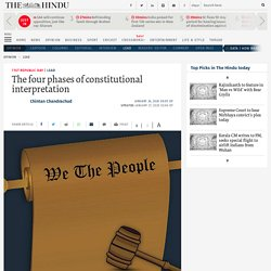 The four phases of constitutional interpretation