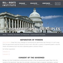 Constitutional Principles - Bill of Rights Institute