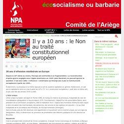 Il y a 10 ans : le Non au traité constitutionnel européen