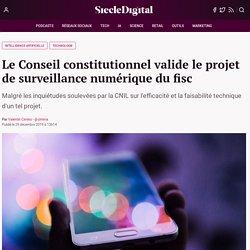 Le Conseil constitutionnel valide le projet de surveillance numérique du fisc