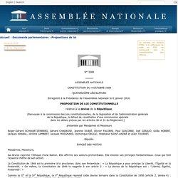 N°3386 - Proposition de loi constitutionnelle de M. Roger-Gérard Schwartzenberg relative à la devise de la République