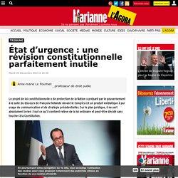État d'urgence: une révision constitutionnelle parfaitement inutile