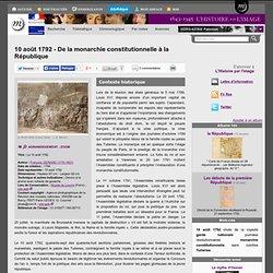 10 août 1792 - De la monarchie constitutionnelle à la République