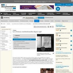 Les révisions constitutionnelles depuis 1958 - Les révisions de la Constitution sous la Ve République