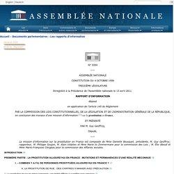N°3334 - Rapport d'information de M. Guy Geoffroy déposé en application de l'article 145 du règlement, par la commission des lois constitutionnelles, de la législation et de l'administration générale de la République, en conclusion des travaux d'une miss