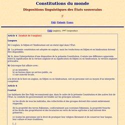 Constitutions du monde: F