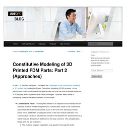 Constitutive Modeling of 3D Printed FDM Parts: Part 2 (Approaches) ·ANSYS Blog