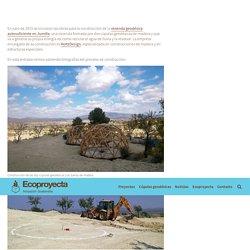 En construcción la vivienda geodésica autosuficiente en Jumilla