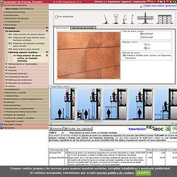 Precio en Ecuador de m² de Hoja exterior de acero corten, en fachada ventilada. Generador de precios de la construcción. CYPE Ingenieros, S.A.