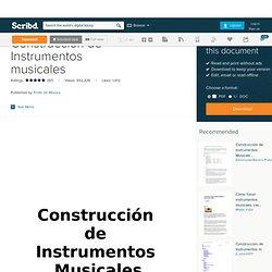 Construcción de Instrumentos musicales