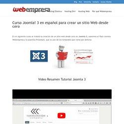 Curso de construcción de un sitio web desde cero usando Joomla 3