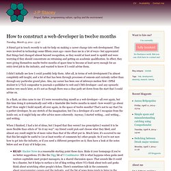 How to construct a web developer in twelve months | Graceful Exits