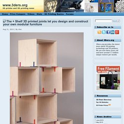 The + Shelf 3D printed joints let you design and construct your own modular furniture
