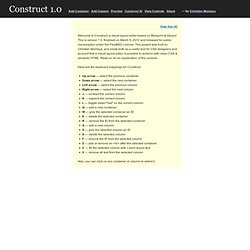 Construct Your CSS | WYSIWYG Layout Editor, Semantic & Table-Free | Based on Blueprint & jQuery