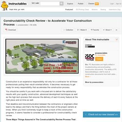 Constructability Check Review - to Accelerate Your Construction Process - All