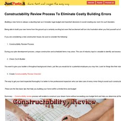 Constructability Review Process To Eliminate Costly Building Errors  - justpaste.it