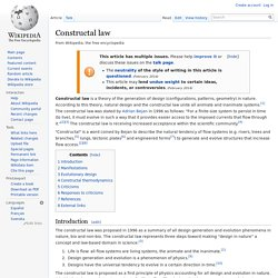 Constructal law