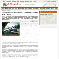 Le constructeur dautomobile Volkswagen rivalise avec Toyota