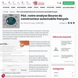 PSA : notre analyse du constructeur automobile français