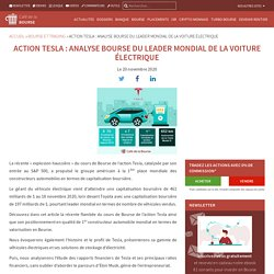 Tesla en Bourse : analyse du 1er constructeur automobile mondial