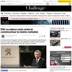 PSA va mieux mais reste le constructeur le moins rentable - 18 février 2015