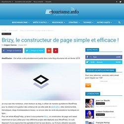 Brizy, le constructeur de page simple et efficace !