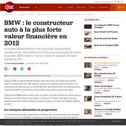 BMW : le constructeur auto à la plus forte valeur financière en 2012