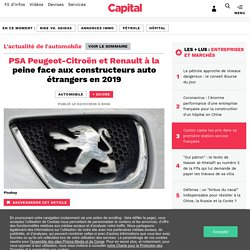PSA Peugeot-Citroën et Renault à la peine face aux constructeurs auto étrangers en 2019