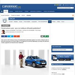 Constructeurs auto: qui a la meilleure efficacité publicitaire?