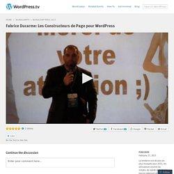 Fabrice Ducarme: Les Constructeurs de Page pour WordPress