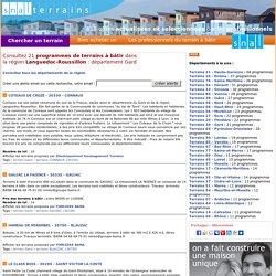 Gard (30)- 21 terrains à bâtir dans le Gard (30) - les terrains constructibles de snalterrains.com