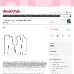 Constructing the Basic Bodice Block – Learning Sewing