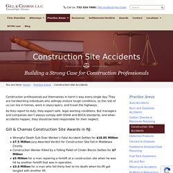 Construction Accident Lawyer NJ - Gill & Chamas