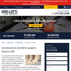 Construction Accident Lawyer in Boston, MA