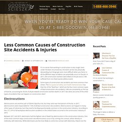 Less Common Causes of Construction Site Accidents & Injuries