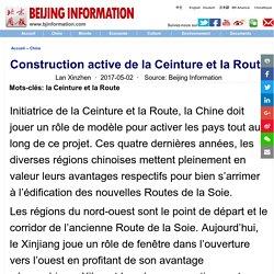 Construction active de la Ceinture et la Route