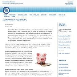 Construction Contract Allowances
